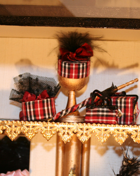 Black and red plaid hats